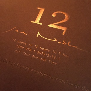 Twelve poems in twelve books in one box, 2012