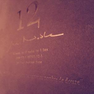 Twelve poems in twelve books in one box, 2012