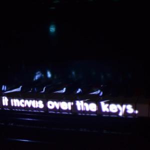 Projected text at the Mas de Graviers, Pourrières. Photo: Johan Hugosson